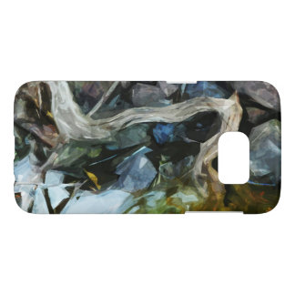 Driftwood on River Rocks Abstract Impressionism Samsung Galaxy S7 Case