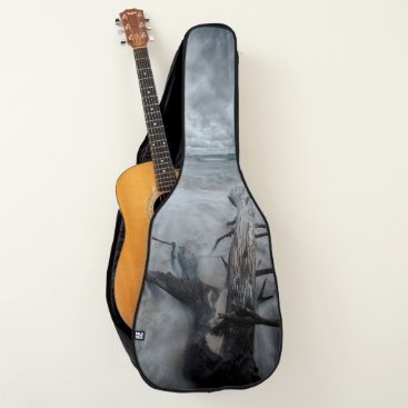 Beach Themed Driftwood on the Beach for Acoustic or Electric Guitar Case