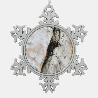 Driftwood Snowflake Pewter Christmas Ornament