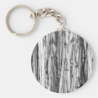 Driftwood pattern - black, white and grey basic round button keychain