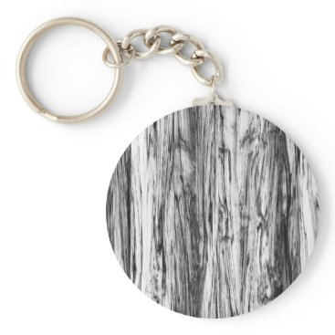 Floridity Driftwood pattern - black, white and grey keychain