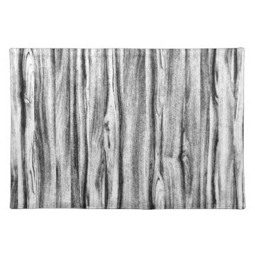 Floridity Driftwood pattern - black, white and grey placemat