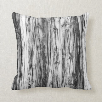 Driftwood pattern - black, white and grey throw pillow