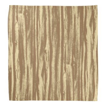 Floridity Driftwood pattern - cocoa brown and tan bandana
