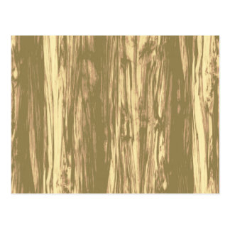 Driftwood pattern - cocoa brown and tan postcard