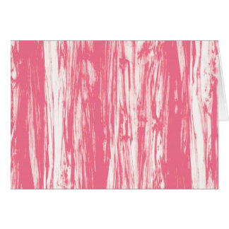 Driftwood pattern - coral pink and white card