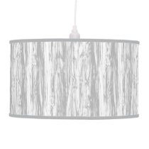 Driftwood pattern - grey / gray and white ceiling lamp