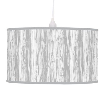 Floridity Driftwood pattern - grey / gray and white ceiling lamp