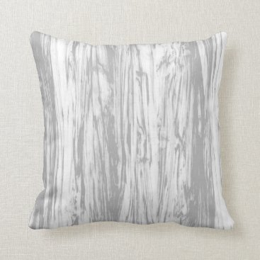 Floridity Driftwood pattern - grey / gray and white throw pillow