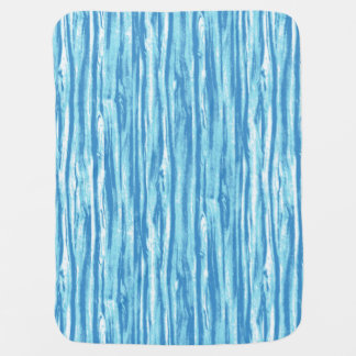Driftwood pattern - ocean blue and white baby blanket