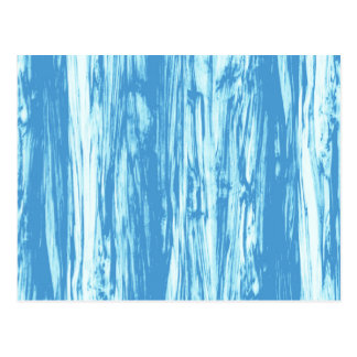 Driftwood pattern - ocean blue and white postcard