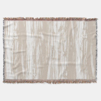 Driftwood pattern - taupe tan and white throw