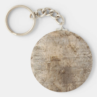 Driftwood Picture. Image of Weathered Wood. Basic Round Button Keychain
