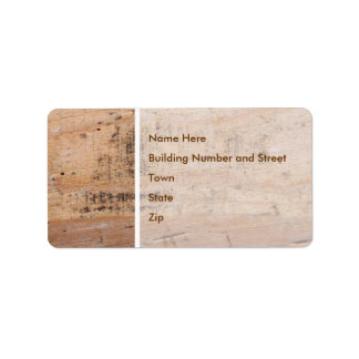 Driftwood Picture. Label