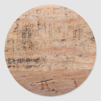 Driftwood Picture. Classic Round Sticker