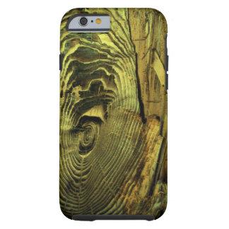 Driftwood quemado apenado madera funda resistente iPhone 6