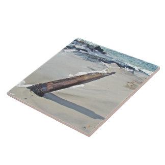 Driftwood soltado azulejo cuadrado grande