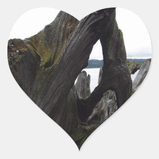 Driftwood Heart Sticker