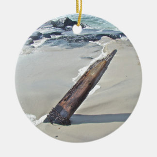 Driftwood Unchained Double-Sided Ceramic Round Christmas Ornament