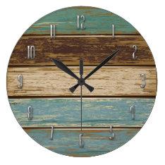 Driftwood Wall Clock at Zazzle