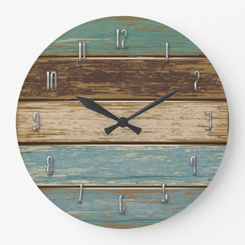 Driftwood Wall Clock by Fiery_Fire at Zazzle