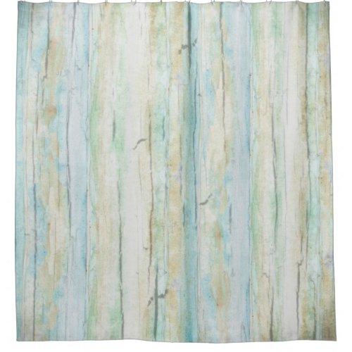Driftwood Watercolor Beach Coastal Rustic Wood Art Shower Curtain
