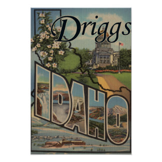 Driggs, IdahoLarge Letter ScenesDriggs, ID Posters