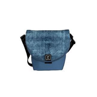 Dril de algodón azul bolso adolescente bolsas messenger