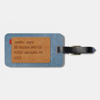 Dril de algodón azul de Jean de la etiqueta de Etiquetas Bolsa