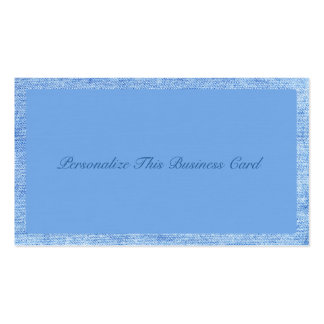 Dril de algodón azul elegante tarjetas de visita