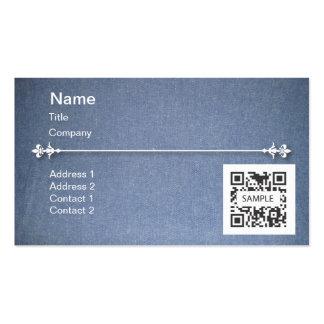 Dril de algodón azul genérico de la plantilla de tarjetas de visita
