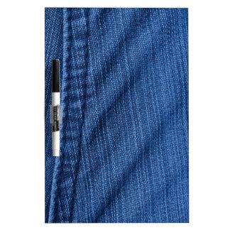 Dril de algodón azul pizarras blancas