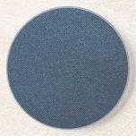 Dril de algodón azul posavasos manualidades