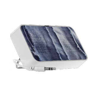 Dril de algodón azul rasgado viejo iPhone altavoz