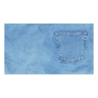 dril de algodón azul tarjetas de visita