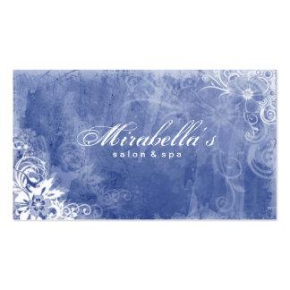Dril de algodón azul W del salón del balneario de Plantilla De Tarjeta De Visita