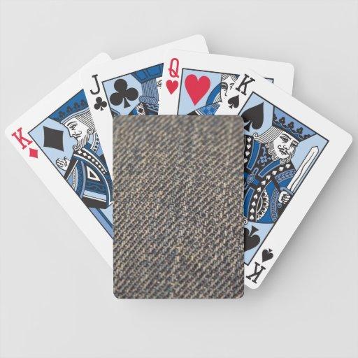 Dril de algodón barajas de cartas