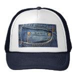 Dril de algodón - bolsillo azul de Jean Gorras
