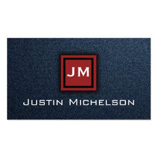 Dril de algodón Jean azul con la tarjeta de visita
