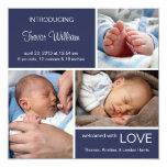 Dril de algodón múltiple del azul del nacimiento anuncios personalizados