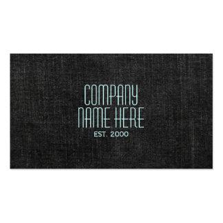 Dril de algodón negro plantilla de tarjeta de visita