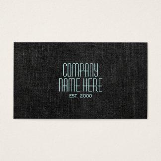 Dril de algodón negro tarjetas de visita