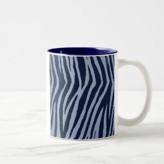 Dril de algodón salvaje del estampado de zebra taza de café