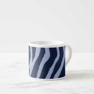 Dril de algodón salvaje del estampado de zebra taza de espresso
