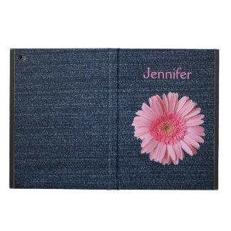Dril de algodón y caja rosada del aire 2 del iPad
