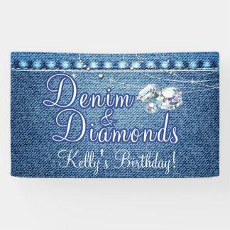 Dril de algodón y fiesta de los diamantes lona