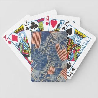 Dril de algodón y vieja gloria barajas de cartas