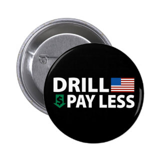 Drill America Pay Less Pinback Buttons