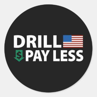 Drill America Pay Less Classic Round Sticker