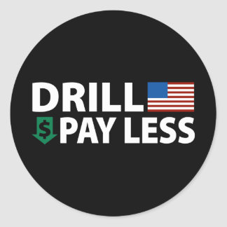 Drill America Pay Less Round Sticker